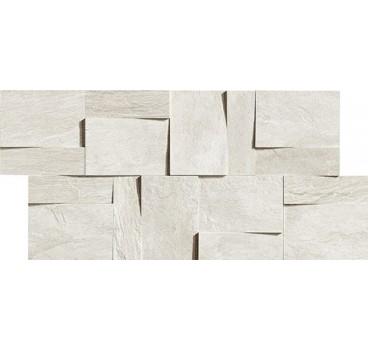 Ardoise Modulo Muretto 3d Blanc 30x30